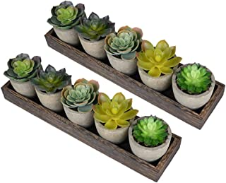 Mini Realistic Succulent Cactus Aloe Potted Artificial Plants for Home décor Indoor Table Decorations for Dining Room Livi...