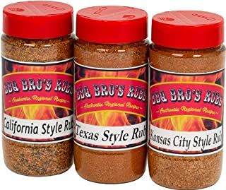 BBQ BROS RUBS {Western Style} - Ultimate Barbecue Spices Seasoning Set - Use for Grilling, Cooking, Smoking - Meat Rub, Dr...