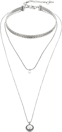 Lucky Brand - Hard Choker & Pendant Set Necklace