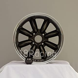 4 PCS ROTA RB WHEELS 16x7 PCD: 4x100 OFFSET: 40 HB:56.1 GUNMETAL WITH POLISH LIP