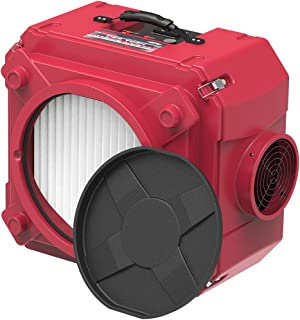 AlorAir CleanShield HEPA 550 Industrial Commercial HEPA Air Scrubber, Negative Air Machine Air Scrubber, cETL Listed, GFCI Outlet, 10 Years Warranty, Red