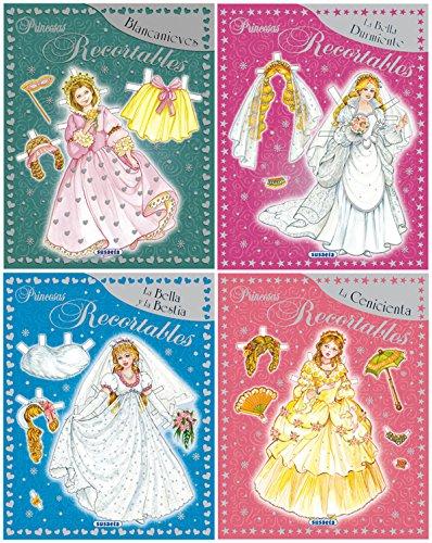 Princesas Recortables - Pack de 4 títulos diferentes