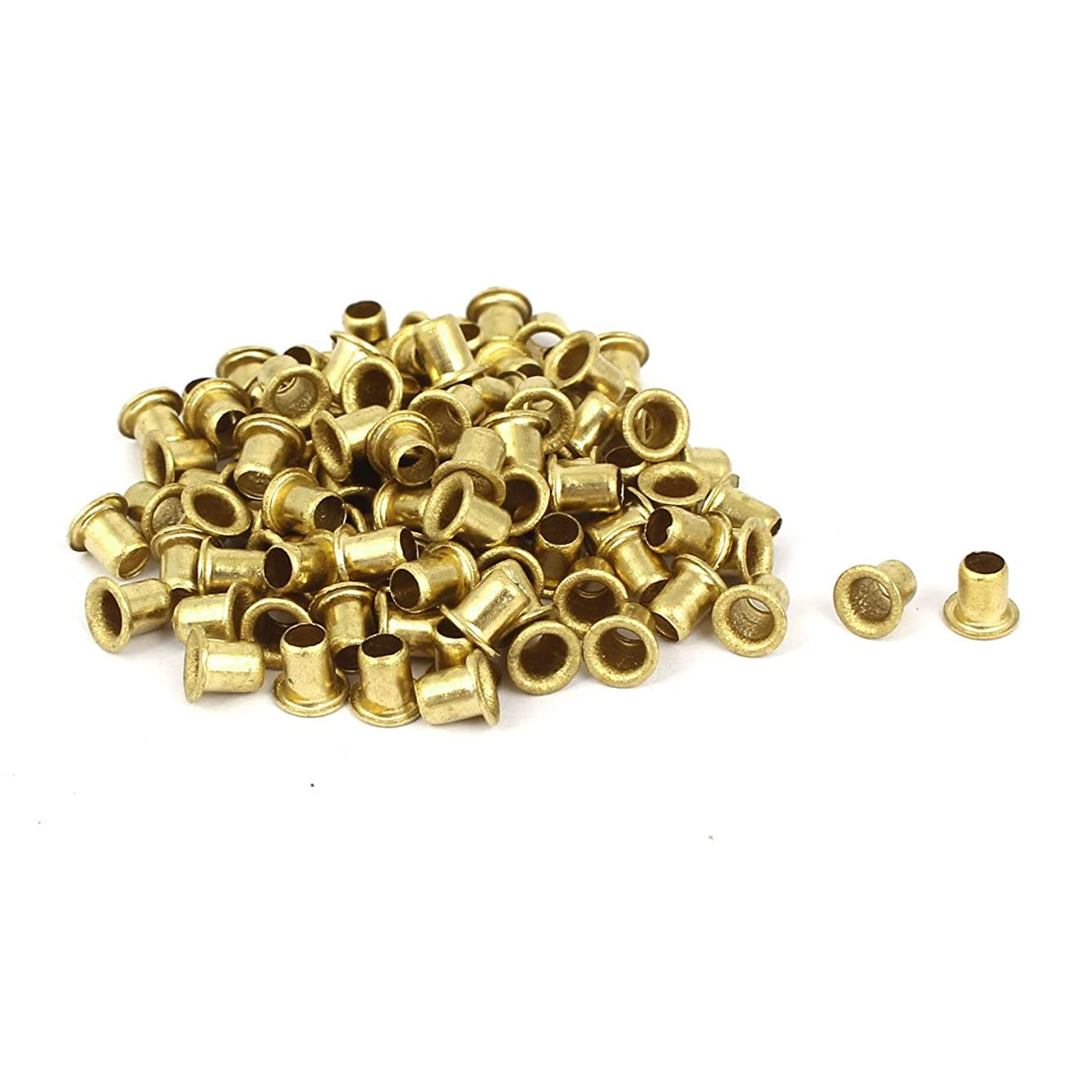 Uxcell a16032800ux0871 4mm x 5mm Double Sided Hollow Rivets Grommets Tool 100 Pcs