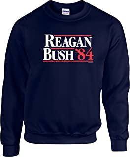 Ronald Reagan Bush '84 Crewneck Sweatshirt-Black