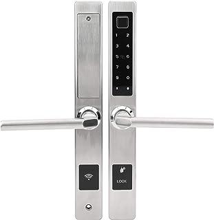 Elektronische Deurslot Sleutel, WiFi Smart Anti-Diefstal Deurslot Vingerafdruk Wachtwoord Kaart Remote Unlock W/Sleutel vo...