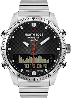 CETLFM Men's Diving Electronic Watch, Outdoor Travel Men's Military Luxury All-Steel Watch, Business Waterproof 100M Height Compass Table (and Many Outdoor Functions)