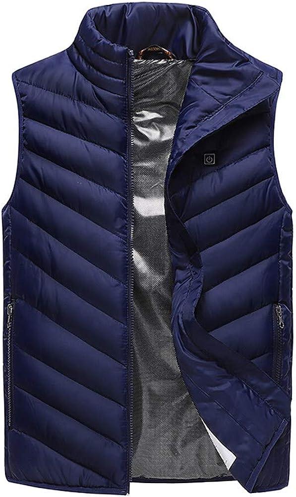 hellodigi Men's Heated Vest,Winter USB Electric Heating Jackets