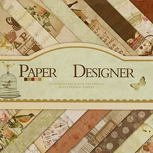 Qatalitic Set of 40 Pattern Design Printed Papers for Art & Craft (VS8006),Size: 8 X 8 Inch for DIY Greeting Card Mak...