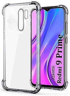 E-COSMOS Back Cover for Redmi 9 Prime/Poco M2 (TPU Silicone_Transparent)