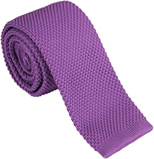 Dan Smith Men's Fashion Checker Microfiber Necktie With Box