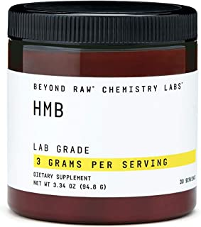 Beyond Raw Chemistry Labs HMB, 30 Servings, Used to Increase Performance While Weight Training
