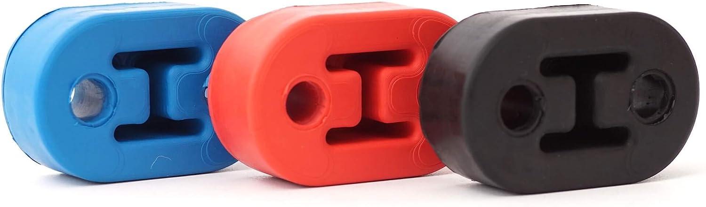 Sk Racing Epdm Auspuffgummi Hänger Halterung Universell Aufhängung Auspuff Gummi 2 Loch 78x48x25mm Rot Auto