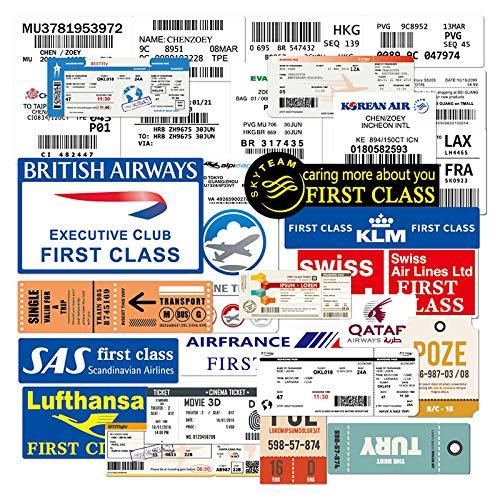 Pasaporte de embarque de la aerolínea caja de billetes equipaje retro impermeable marea marca props skateboard decoración pegatina 30PCS