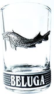 BELUGA VODKA WODKA SHOT GLASSES SET OF 2 EXCLUSIVE BAR GLASSES
