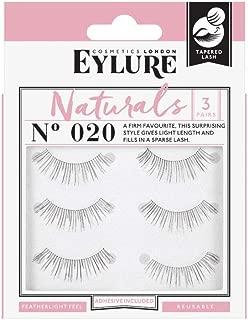 (Multi Pack- 3 Pairs) Eylure Naturalites #020 False Eyelashes, Black