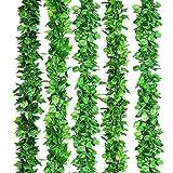 Lisopo 14pcs Lierre Plante Artificielle Feuilles de lierre guirlande(20mètres) Lierre Artificielle Guirlande Faux Lierre pour Decoration Mariage Balcon Cuisine Jardin Bureau
