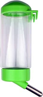 Pet Water Bottle Hanging No Drip Chew Proof 450ml for Puppy Cat Rabbit Small Animals, Automatically Feeding Water-Color Ma...