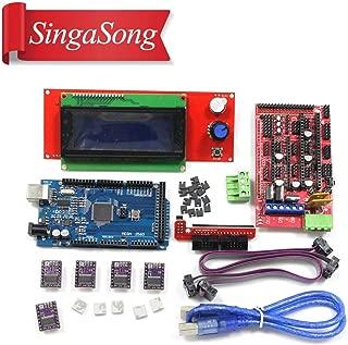 AiCheaX Tool - 3D Printer kit 1pcs Mega 2560 R3 + 1pcs RAMPS 1.4 Controller+ 5pcs DRV8825 Stepper Motor Drive + 1pcs LCD 2004 Controller