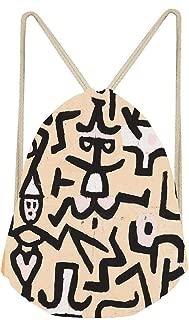 Comedians Handbill Paul Klee 1938 Drawstring Backpack Gym Sack String Bag Sinch Sack Sport Cinch Pack Gift Bags Rucksack