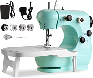 Máquina de Coser De Doble Velocidad, Con luz nocturna y mesa extensible, Con luz nocturna, Portátil y práctica, Apta tanto...