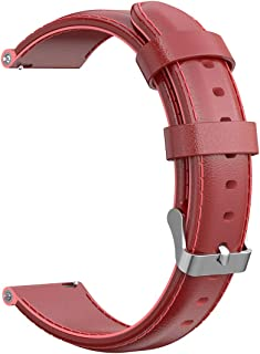 AWADUO 18mm Replacement Genuine Leather Wrist Band Strap Compatible for Nokia Withings Steel HR(36MM)/ Nokia Steel HR(36M...