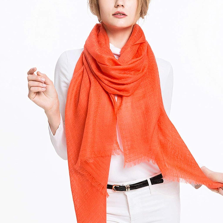 CCF Scarf Woman Thin Section Soft Fluffy Shawl 200cm×70cm V (color   orange)