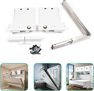 Murphy Bed Hardware Kit, Vertical Mounting Wall Bed Springs Mechanism Heavy Duty Bed Support DIY Kit (Large)