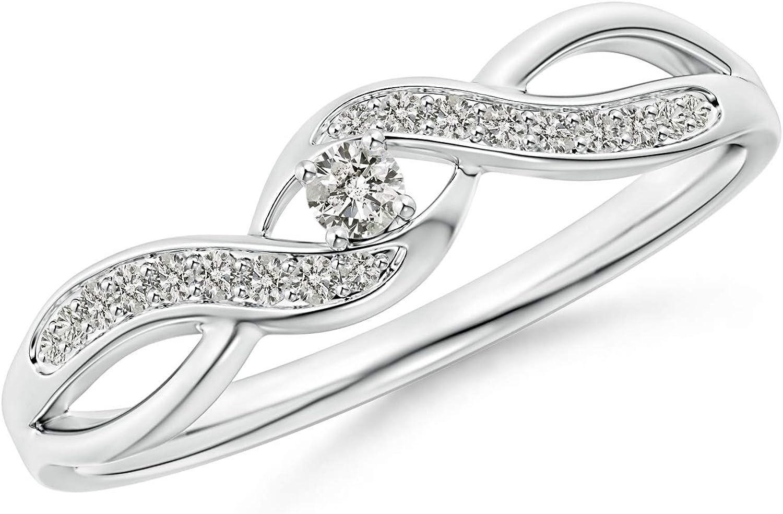 Solitaire Round Diamond Infinity Promise Ring (2.1mm Diamond)