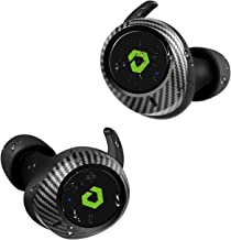 DESTEK T1 Wireless Earbuds, 45H Playtime Deep Bass Wireless Earbuds Bluetooth, Real IPX7 Waterproof Bluetooth 5.0 Noise Cancelling Hi-Fi Stereo Wireless Charging Case Carbon Fiber Appearance for Sport