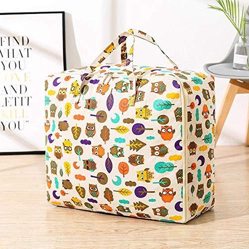 JXX Storage Bag Clothing Storage Bag Pillow Quilt Blanket Portable Clothes Suitcase Folding Closet Organizer-Xxl 70X30X50Cm_Wacky Animal