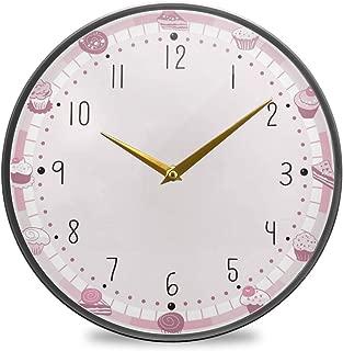 Chovy 掛け時計 サイレント 連続秒針 壁掛け時計 インテリア 置き時計 北欧 おしゃれ かわいい ケーキ サンドイッチ ピンク かわいい 可愛い 部屋装飾 子供部屋 プレゼント