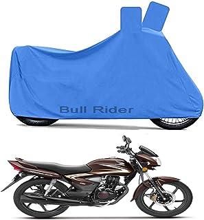 Bull Rider Two Wheeler Cover for Honda CB Shine (Blue)