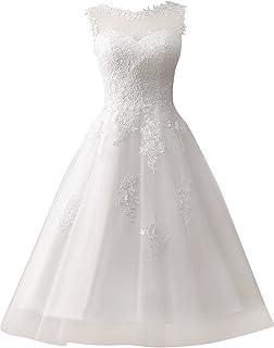 463038eedd3 Wedding Dress Lace Bride Dresses Short Wedding Gown Tulle Vintage Bridal  Gown Appliques