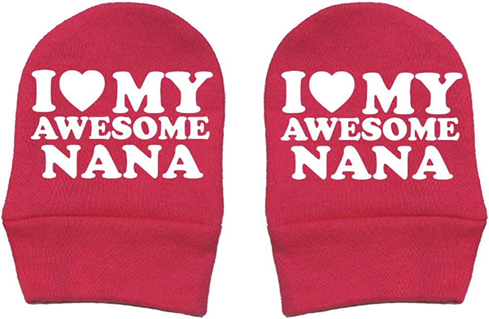 I Love Thick Premium Fun /& Trendy Mashed Clothing Unisex-Baby Thick /& Soft Baby Mittens My Awesome Nana Red Heart