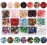 15 Colori Perline di Pietre Preziose Naturali Irregolari Gemme Miste Colorate Distanziatori Creazione di Gioielli Fai da te Braccialetti Collane