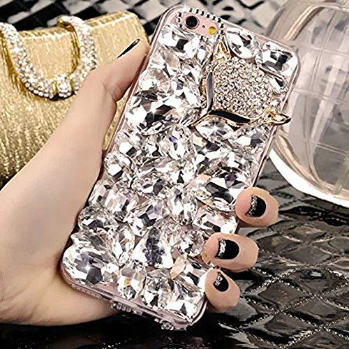 LIUYAWEI Diamante de imitación de Cristal y Corona Suave Cubierta de la...