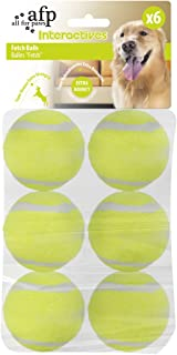 """ALL FOR PAWS Dog Squeaky Tennis Balls for Dogs Set of 6 for Pet Playing and Training 2"""""""