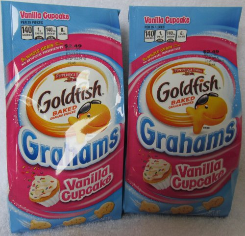 Pepperidge Farms Vanilla Cupcake Goldfish Baked Grahams, 2 Pack