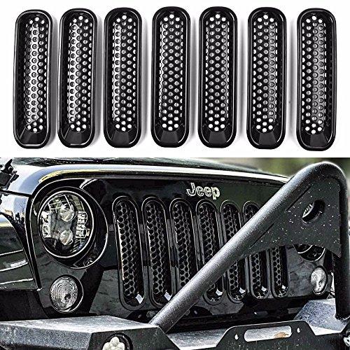 KATUR - Kit per griglia anteriore in rete per Jep Wrangler JK 2007-2015, 7 pezzi