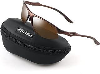 GREY JACK Al-Mg Alloy Lightweight Half-Frame Sports Polarized Sunglasses for Men Women