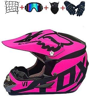 Motocross-Helm,Motocross-Helm für Kinder und Jungen Motocross-Helm für Erwachsene Motocross-Helm mit Schutzbrille und Handschuhen.