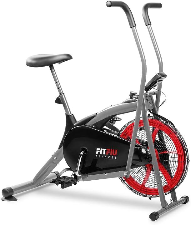 Bicicletta ellittica con resistenza all`aria fitfiu fitness beli-150 sella regolabile e schermo lcd