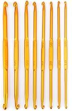 Handvat Haaknaalden Breinaald 8 Stuks Gouden Aluminium Dubbele Haak Breinaald