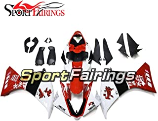 Complete Motorcycle Fairings Kits for Yamaha YZF 1000 R1 2012-2014 Year ABS Plastic 2013 Motorbike Covers Body Work Panels Kits Red White