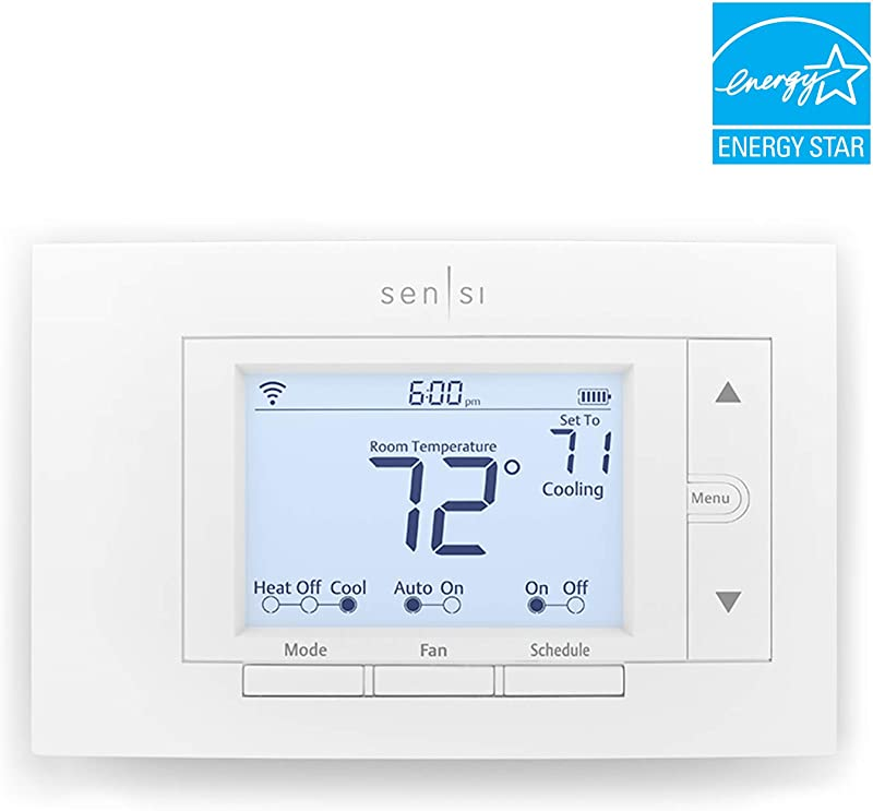 Emerson Sensi Wi Fi Smart Thermostat For Smart Home DIY Version Works With Alexa Energy Star Certified
