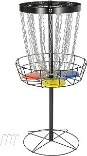 CROWN ME Disc Golf Basket Target, 24-Chain Portable Metal Golf Goals Baskets