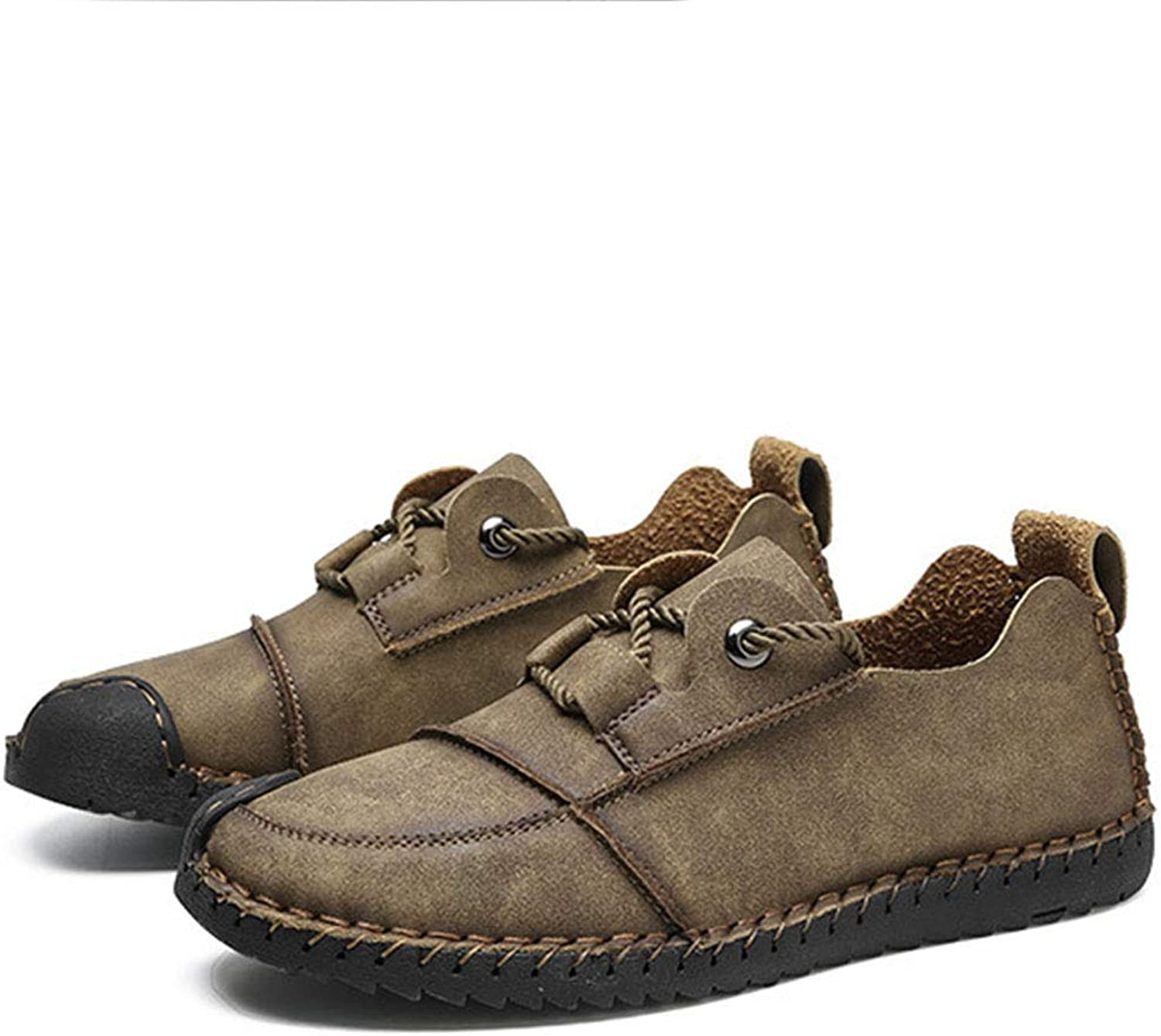 RLYAY Men's Leather shoes Autumn And Winter Large Size Outdoor Casual shoes Black Brown Khaki