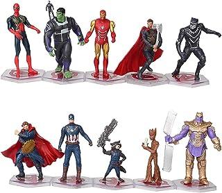 10 Pcs Superheroes Action Figures Sets - PVC Figure Toy Dolls–Super Hero Cake Toppers Decorate