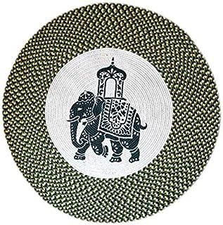 Round Meditation Mat/Vintage Hand-Woven Circular Carpet/Round Yoga Mat/Meditation Mat/Fitness Exercise Mat/Home Mat, Diame...