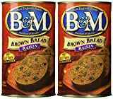 B & M BREAD BROWN RAISIN, 16 OZ (Pack of 2)